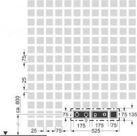 Hansa Fertigmont.-Installationspaket 4.1 zu Hansadesigno 4487 0131 verchromt, 44870131