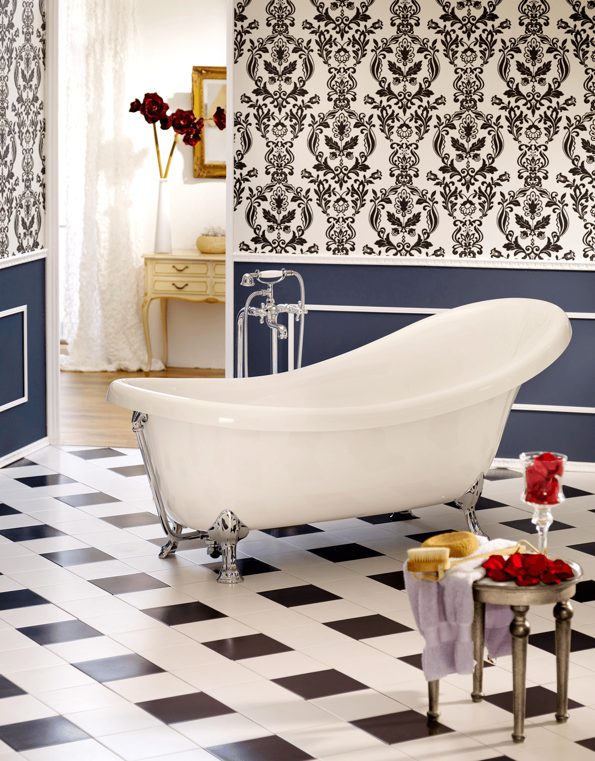 freistehende badewanne azur 1750x825x395 mm wei. Black Bedroom Furniture Sets. Home Design Ideas