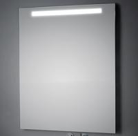 KOH-I-NOOR T5 Wandspiegel mit Oberbeleuchtung, B: 80 cm, H: 80 cm