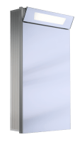 Schneider Spiegelschrank Capeline 45/1/FL, 1x24W 450x800x150 alueloxiert, 154.045.02.50