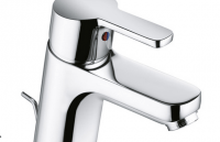 Kludi Waschtisch-Einhebelmischer Logo Neo m. Ablaufgarnitur, Überwurfmutter, chrom