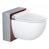 GROHE Sensia IGS Dusch-WC, Front: rot, Gehäuse: mattchrom, 39111LD0