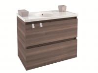 Cosmic B-Box Schrank 2 Schubladen mit Keramik-Waschbecken, (80 cm), B05010811159