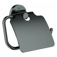 Grohe WC-Papierhalter Essentials 40367 mit Deckel hard graphite, 40367A01