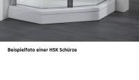 HSK Acryl Schürze 11 cm hoch, für HSK Viertelkreis Duschwanne 90 x 90 cm
