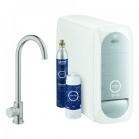 Grohe Blue Home Mono Starter Kit 31498 Bluetooth/WIFI C-Auslauf supersteel, 31498DC1