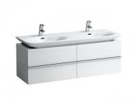 Laufen Waschtischunterbau case 1290x430x425,4 Schubladen,Weiß matt, 40133.2, 4013320754631