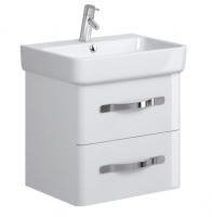 Neuesbad Serie 100 Waschtischunterschrank, B:643, T:420, H:500mm, weiss glänzend