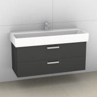 Artiqua Serie 414 Waschtischunterschrank mit 2 Auszügen, 414-WU2L-V33-7015-51