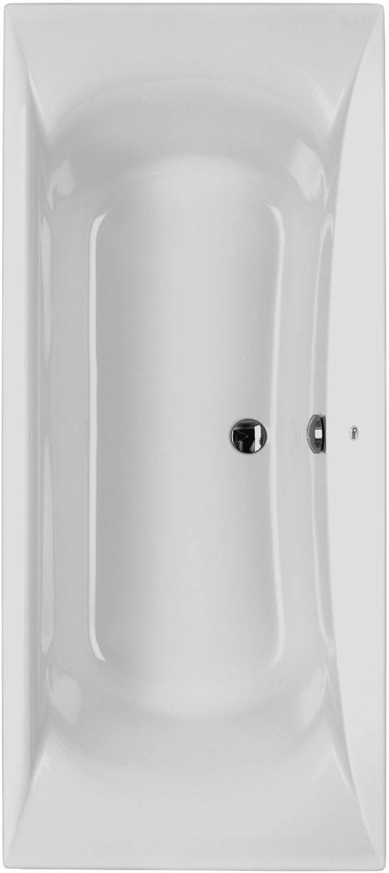 Acryl Duo Rechteck-Badewanne L: 1800, B: 800 mm, Farbe: weiss 800105