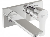Ideal Standard Wand-Waschtischarmatur Unterputz Bausatz 2 Gio, Ausladung 172mm, Chrom A6107AA