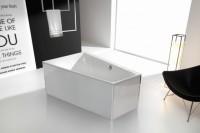 Hoesch Glasverkleidung weiß freistehend  für Whirlwanne Sechseck 170x80, 49764.550