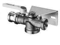 Schell Gasabsperr-Kugelhahn EZ mit GSW HTB DG DN25xG 1 3/8 GS-K25/6,0 messing