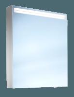 Schneider Spiegelschr. Arangaline/60/1/LED/L, 1x12W+1x9W LED 600x700x120 alueloxiert, 160.061.02.50