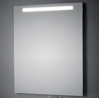 KOH-I-NOOR T5 Wandspiegel mit Oberbeleuchtung, B: 70 cm, H: 60 cm