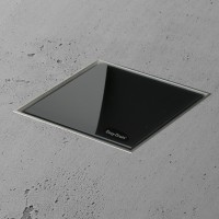 Aqua Jewels Quattro 20x20 cm Glas Schwarz matt