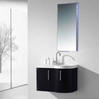 Neuesbad 3000 Badmöbelset 80 cm Breite, inklusive Waschtisch, Unterschrank und Spiegel