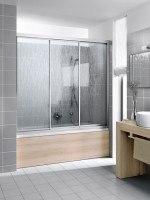 Kermi Gleittür Nova 2000 STD 1800x1600, silber mattglanz, Kunstglas Kerolan Fontana