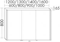 Burgbad Spiegelschrank Sys30 PG4 800x808x165 Sys30 PG4, SPHC080PN416