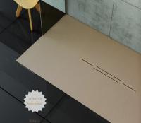 Fiora Silex Privilege Duschwanne, Breite 75 cm, Länge 100 cm, Farbe: capuccino