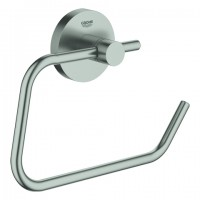 GROHE WC-Papierhalter Essentials 40689, ohne Deckel Metall supersteel, 40689DC1