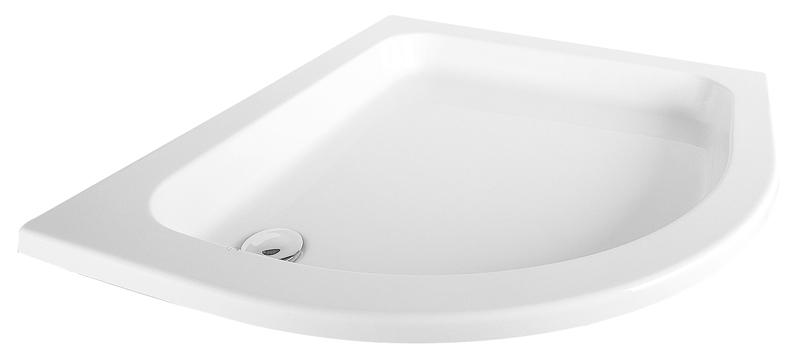 HSK Acryl Viertelkreis-Duschwanne, flach 90 x 100 x 10 cm, ohne Schürze 500211-A-calypso