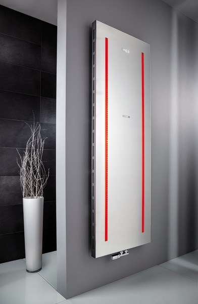 HSK Badheizkörper Atelier LED 608 x 1806 mm, Mittelanschluss, Farbe: weiss
