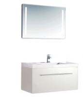 Neuesbad 1000 Badmöbelset 90 cm Breite, inklusive Waschtisch, Unterschrank und Spiegel