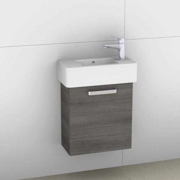 Artiqua 411 Waschtischunterschrank für Vero 070350, Graphit Struktur quer, 411-WUT-D28-L-7098-401