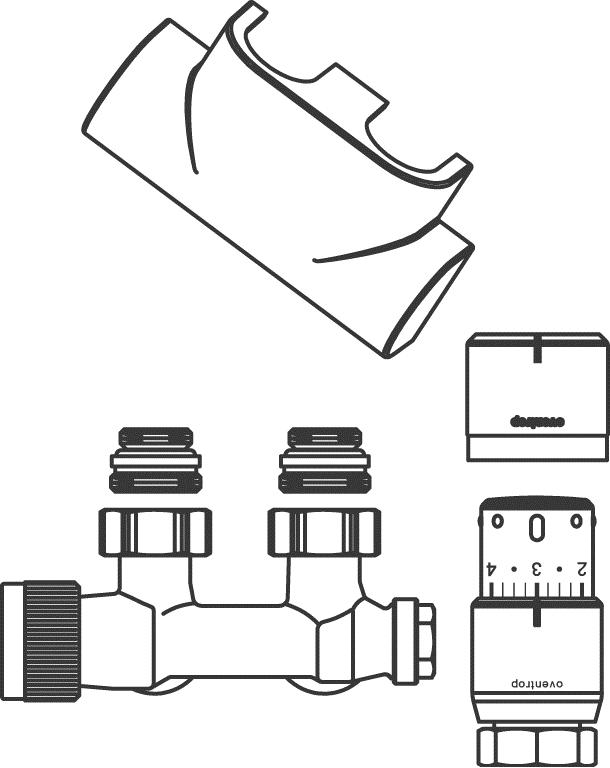 Anschluss-Set Multiblock T und Uni SH 1184384