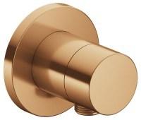 Keuco Absperrventil IXMO Pure 59541, rund Schlauchanschluss, Bronze gebürstet, 59541030101