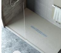 Fiora Silex Privilege Duschwanne, Breite 90 cm, Länge 120 cm, Farbe: grau