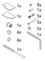 Kermi ZBI2042 Set Montagekleinteile, 2531558