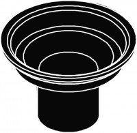Kermi BA Geruchsverschluss DN40 für Ablauf Point schwarz, 6041559