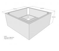 Neuesbad Wannenträger für Bette flach 75x75x15