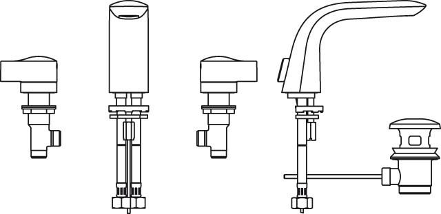 3-Loch-Waschtisch-Armatur Melange chrom A4288AA
