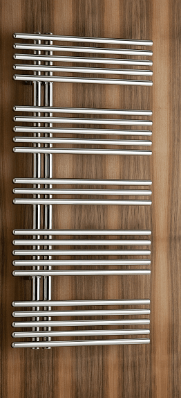Pavone single Badheizkörper (Mischbetrieb), B: 510 mm x H: 856 mm 515008M-braunsatin
