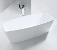 Königsburg Premium 4 freistehende Mineralguss-Badewanne, L:1700, B:780, H:550 mm, weiss