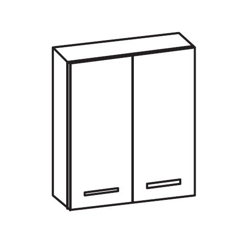 ARTIQUA 400 Wandschrank mit 2 Türen, B: 60 H: 70 T: 17 cm