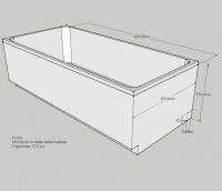 Neuesbad Wannenträger für für BetteOne Relax 190x90cm, Trägerhöhe: 570 mm