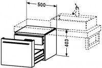 Duravit Unterschrank für Konsole Fogo T:550, B:500, H:403mm, FO95420