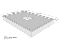 Neuesbad Wannenträger für Bette Floor 1400x1000