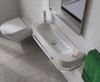 Globo Concept Waschtisch, B: 850, T: 270, H: 120 mm, ohne Hahnloch, weiss