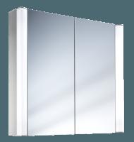 Schneider Spiegelschrank Moanaline 80/2/FL, 2x14W 800x640x140 alueloxiert, 157.080.02.50