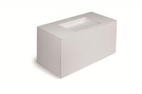 Cosmic Block Schrank 2 Schubladen mit Waschtich matt Ohne Hahnloch,B:1000, H:520, T:500 mm