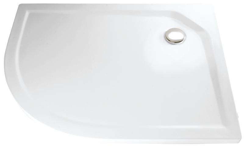 HSK Acryl Viertelkreis-Duschwanne super-flach 90 x 100 x 3,5 cm, ohne Schürze 505211-pergamon
