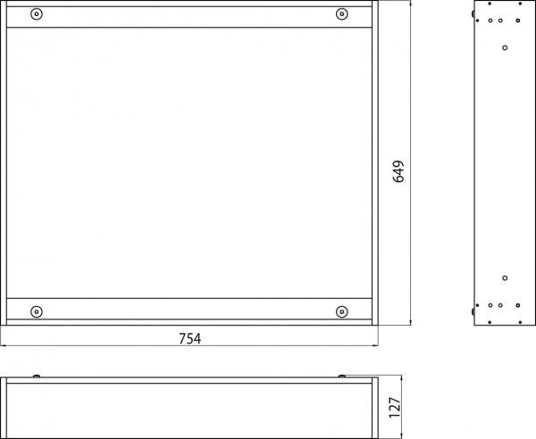 Emco asis Einbaurahmen (800mm), für Unterputz-Lichtspiegelschrank Premium 9797 050 29, 979700029