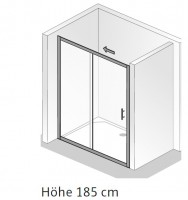 HSK Favorit Gleittür, 2-teilig, mit Bodenprofil