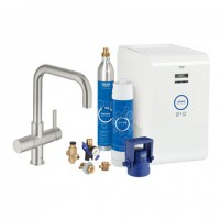 Grohe Blue Starter Kit 31324 für BWT-Filter U-Auslauf supersteel