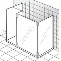 HSK Walk In K2 P 1 Glaselement + Seitenteil + Seitenwand + freistehende Seitenwand